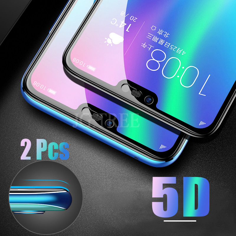 2Pcs 5D Glass for Huawei honor 10 Glass on the for honor 10 Protective Tempered Glass for