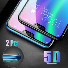 2Pcs 5D Glass for Huawei honor 10 Glass on the for honor 10 Protective Tempered Glass for huawei honor 10 Screen Protector(China)