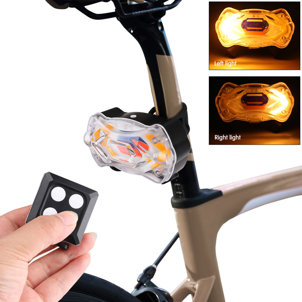 Lighting Modes Bicycle Light USB Charge Led Bicycle Bike Rear LED Tail Light Wireless USB Remote Control Turn Signals Light