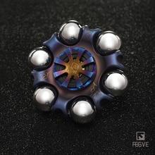 FEGVE титановый сплав жареный синий рисунок молнии Спиннер игрушки, ручной Спиннер металлический Спиннер и взрослые игрушки FG40