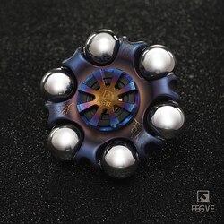 FEGVE Titan legierung Gerösteten blau Blitz muster Spinner Zappeln Spielzeug Hand Spinner Metall Fidget Spinner und Erwachsene Spielzeug FG40