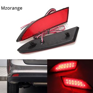 1 pair LED Rear Bumper Reflector Light For Ford Focus 3 2012-2014 Sedan Hatchback Car Styling Brake Warning Fog Lamp Auto Parts