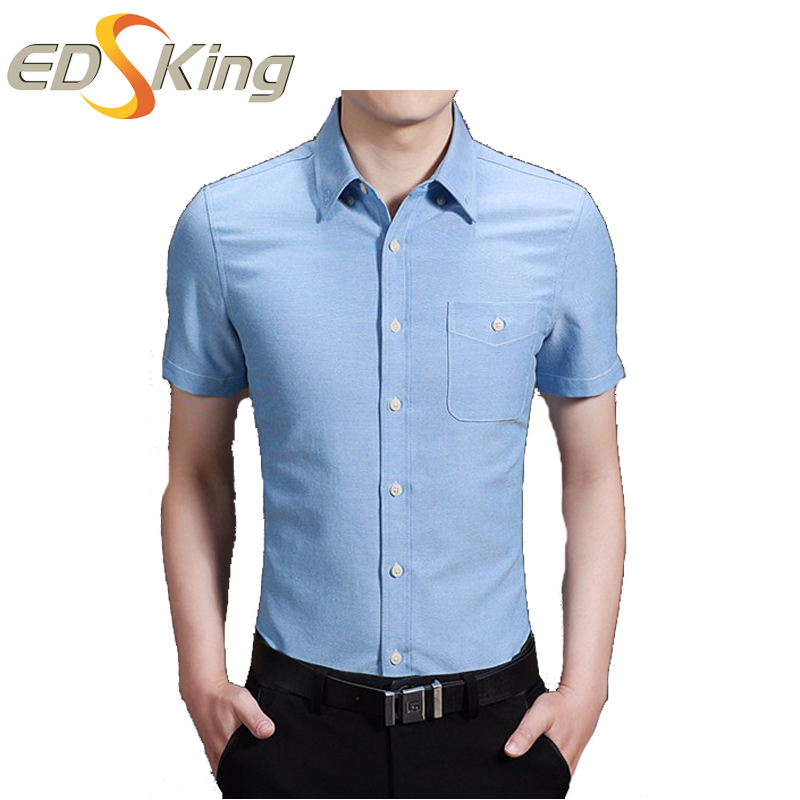 2017 Summer Men Fashion Dress Shirts Short Sleeve Shirt Turn-Down Collar Casual Mens Slim Fit Chemise Manche Courte Homme