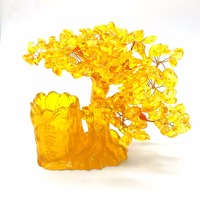 180mm high quartz crystal bonsai money tree .cash cow It is a symbol of feng shui and wealth