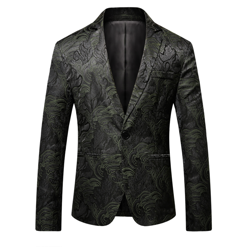 2019 Green Latest Designs Blazer Men Tuxedos Party Fashion Suit Coats For Prom Male Costume Classic Luxury