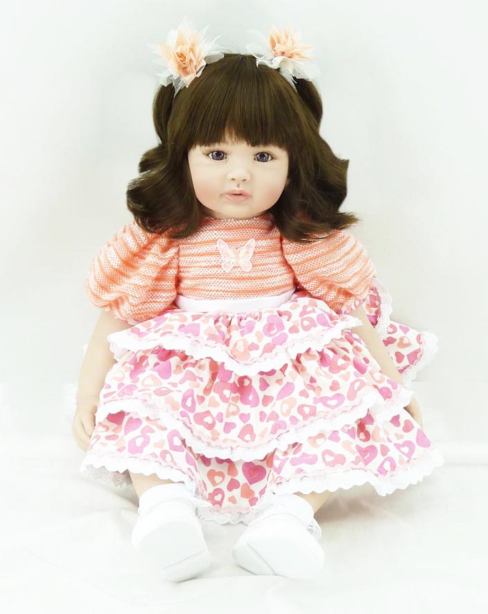 The new vinyl silicone reborn baby dolls accompany lifelike princess toddler doll kid high-end christmas new year boutique gifts sd bjd plastic lifelike princess girl doll dressing exercise doll for kids high end christmas new year gift boutique collection