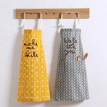 Diamond lattice Cotton Apron Make Me Smile And Love U Cooking Panting Apron Restaurant Work Clothes Coffee Use Nail Salon Aprons
