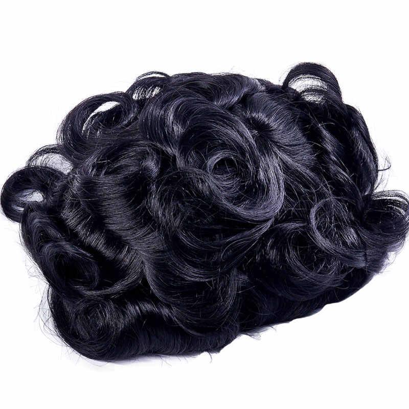 Ali queen волосы тонкая кожа 0,10-0,14 мм мужской парик Тонкий ПУ заменить мужчин t волос системы индийские Remy человеческие волосы
