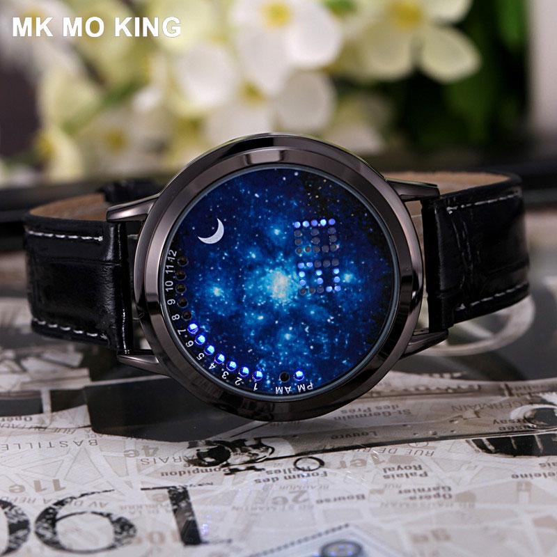 Creative LED Touch Screen Watch Luminous Star Couple Fashion Sports Men Wrist Watch Ladies Clock Gift Bracelet