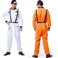 786bbca39d52 Adult Men Astronaut Polit Costumes Halloween Party Space Flight Jumpsuit (China)