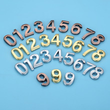 35mm ABS Plastic Gold Self-Adhesive 0-9 Curved Door Numbers Customized House Address Sign custom made halo lit address numbers