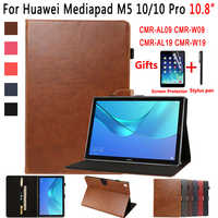 Caso de couro premium para huawei mediapad m5 10 pro 10.8 CMR-W19 CMR-W09 CMR-AL09 capa inteligente para huawei mediapad m5 10.8