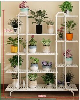 Shelf indoor living room balcony shelf multi-functional tieyi multi-layer ground fleshly green plants simple flowerpot frame