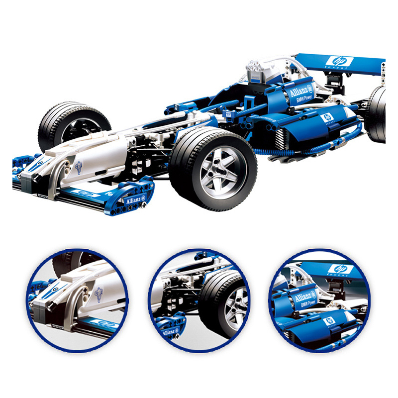 compatible with lego technic series 8461 20022 1586pcs williams f1 team racer building blocks. Black Bedroom Furniture Sets. Home Design Ideas
