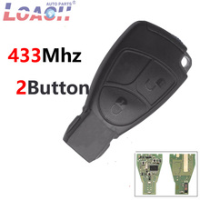 2  Buttons 433Mhz Smart Remote Car key FobFor Mercedes Benz B C E ML S CLK CL Control With Bland New Product