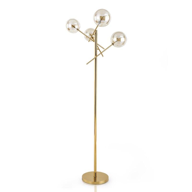New arrival Nordic Simple Floor lamps Designer Plated gold Metal Living room Bedroom Standing lamp Iron
