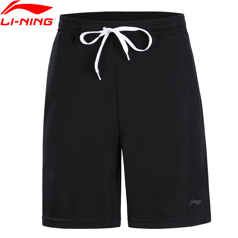 (Break Code)Li-Ning Men Training Shorts Breathable Loose Fit 100% Polyester LiNing Li Ning Comfort Sports Shorts AKSN167 MKD1560