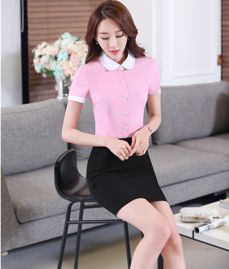 formal business suits tops and skirt 2016 summer short