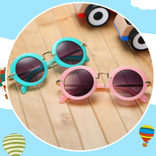 Baby Boys Girls Kids Sunglasses Vintage Round Sun Glasses UV 400 Children