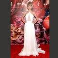 Летнее Платье 2017 Сексуальная Белый Холтер Ruched Спинки Длиннее Шифоновое Тейлор Red Carpet Платье Великолепная Vestidos Знаменитости Платье