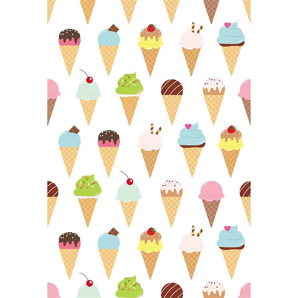 Popular Ice Cream Wallpaper Buy Cheap Ice Cream Wallpaper: White Background For Photography Various Colourful Cartoon