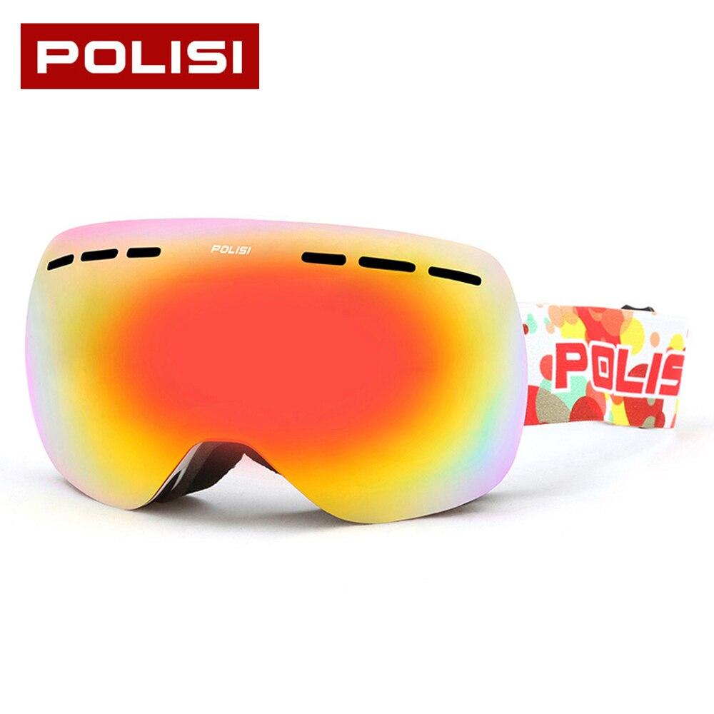 Prix pour 2017 Nouvelle Arrivée Hommes de Femmes de Ski Lunettes UV400 Anti-brouillard Coupe-Vent Snowboard Lunettes Lunettes de Sport lunettes de Soleil Masque