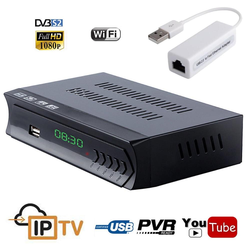1080P Free DVB S2 HD Digital Satellite Receiver IPTV Combo TV Box