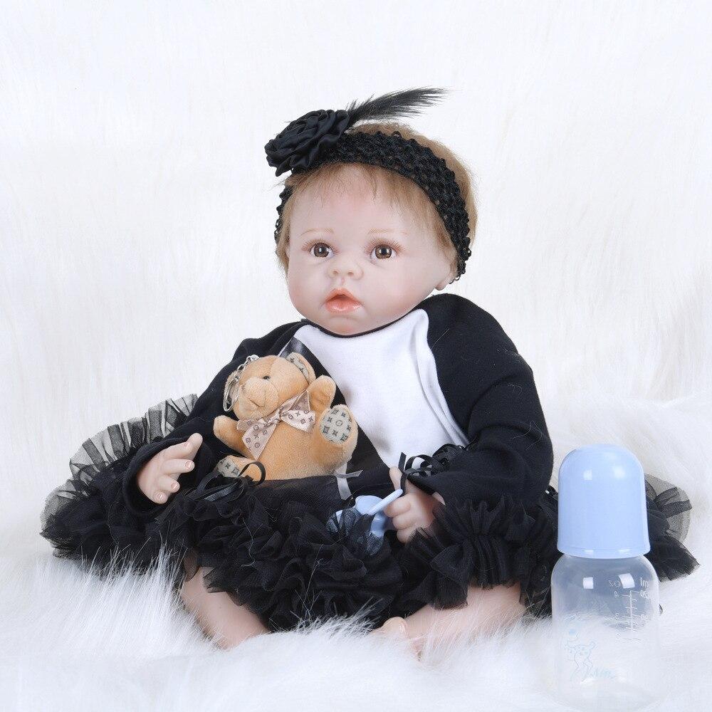 Boneca Reborn 22inch Soft Silicone Cloth Body Dolls 55cm Reborn Baby Doll Newborn Lifelike Bebe Reborn DollsBoneca Reborn 22inch Soft Silicone Cloth Body Dolls 55cm Reborn Baby Doll Newborn Lifelike Bebe Reborn Dolls