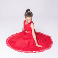 Princess Evening Dress Party Dress Baby Girls Dresses Birthday Gift Red Blue White Black Age 2