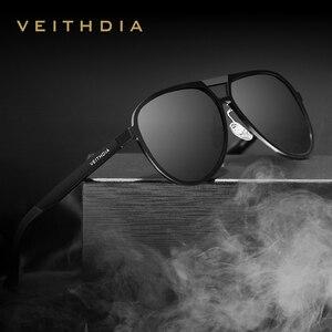 Image 1 - VEITHDIA ブランドメンズアルミマグネシウムサングラス偏光 UV400 レンズ眼鏡アクセサリー男性男性/女性 V6850