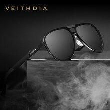 Veithdia marca homens de alumínio magnésio óculos de sol polarizados uv400 lente acessórios masculino óculos de sol para homem/mulher v6850