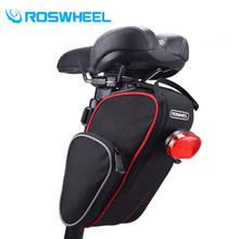 ROSWHEEL Outdoor Cycling Mountain Bike Back Seat Bicycle Rear Bag Bike Saddle Bag Bicycle Accessories Tail Pouch Package
