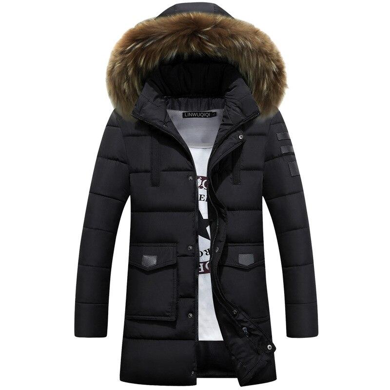 Men's   Down   Jacket Winter 2017 Male   Down     Coat   Men Long   Down   Jacket Thick Snow Wear Male Snowsuit M L XL XXL 3XL BLUE
