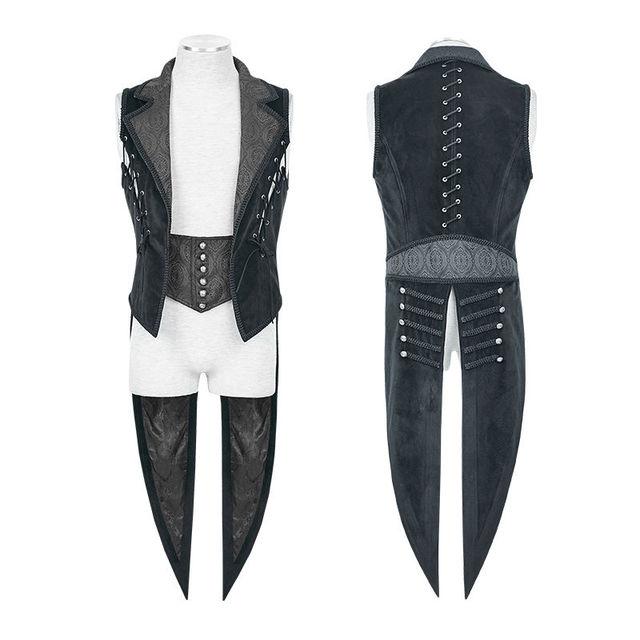Punk Rave Y648 Mens Vest Waistcoat Tailcoat Blue Velvet Gothic Steampunk Regency