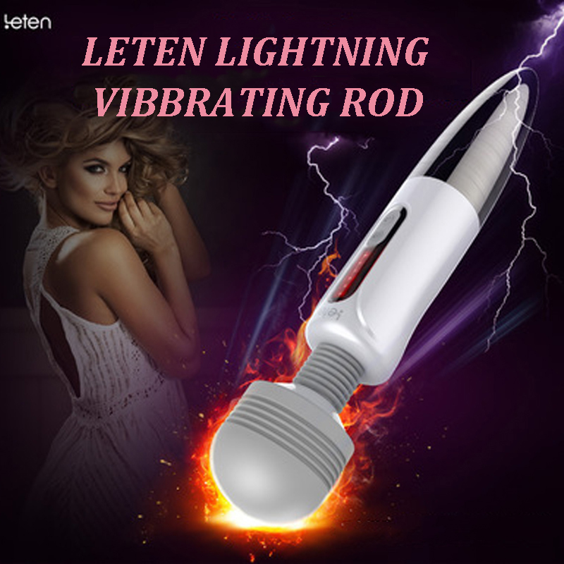LETEN Lightning Massager vibrators for women Sex products huge head AV Magic Wand Nipple Clitoris Stimulator sex Toys for Woman libo 8 speed g spot vibrators sex toys for women magic wand massager body massager vibromasseur vibradores femininos av stick