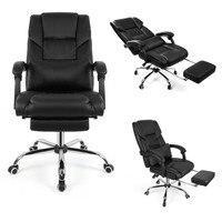 Роскошные исполнительный босс офисное кресло эргономичного дизайна кресло поворотный лифтинг компьютерная игра стул с подушкой для ног до