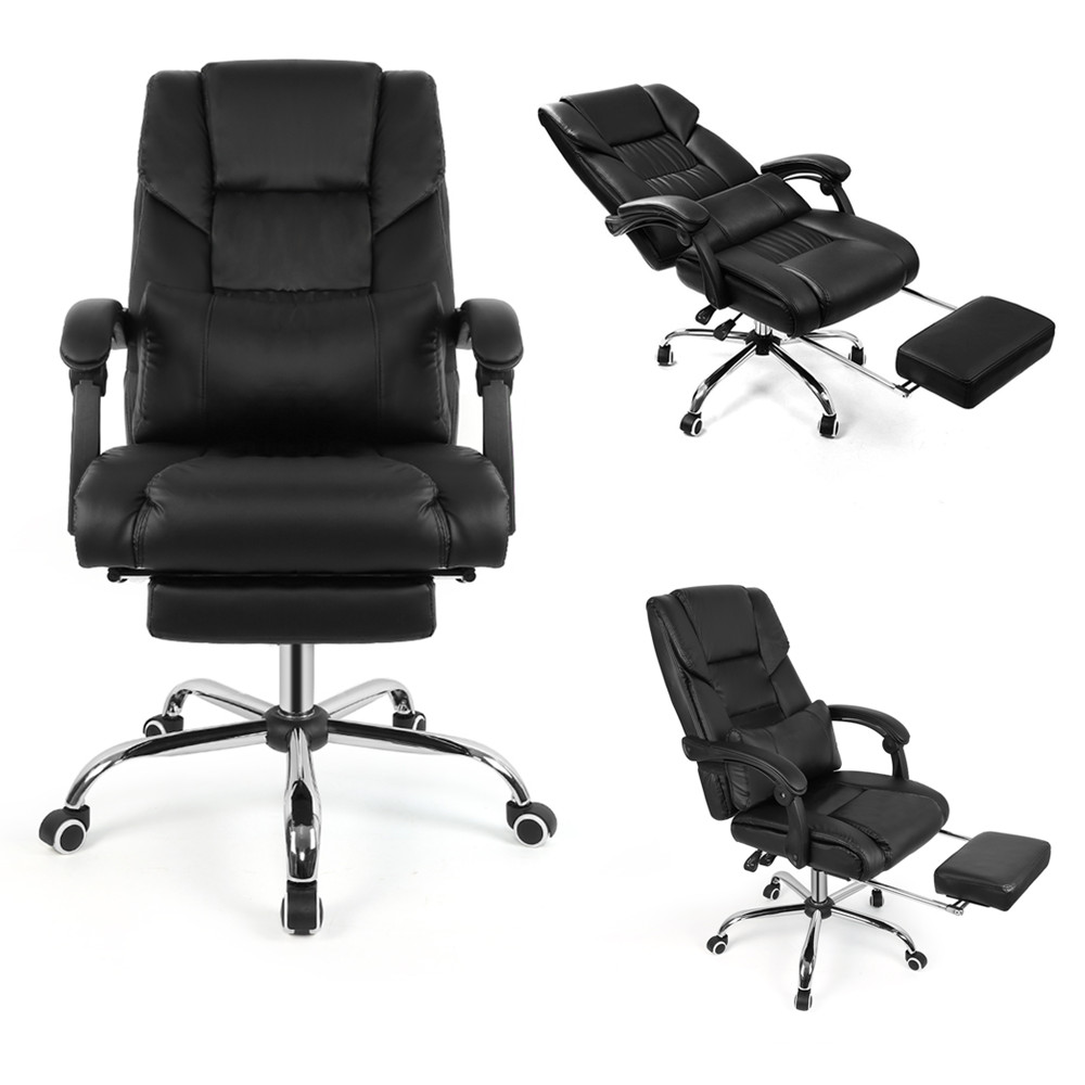 Luxury Executive Boss Office Chair Ergonomic Recliner Swivel Liftable Computer Game Chair with Pillow Footrest Household Chair