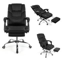 Luxury Executive Boss ergonomiczne krzesło biurowe krzesło obrotowe Liftable gra komputerowa krzesło z poduszką podnóżek krzesło do gospodarstwa domowego|Krzesła biurowe|   -