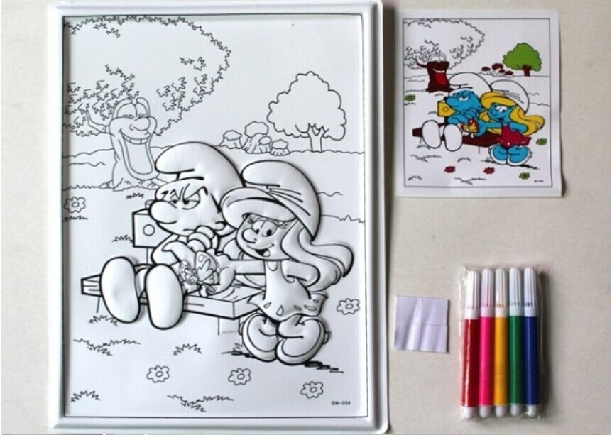 big size coloring murals children relief painting drawing paper kids coloring pen color paper for learning and educational toys in drawing toys from toys