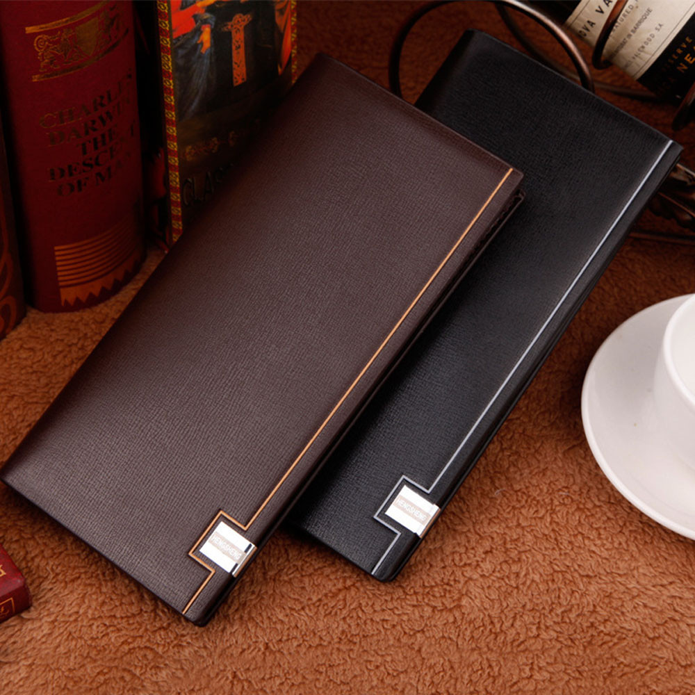 Bolsas 2017 Men Wallet Long Bifold Business Leather Wallet Money Card Holder Coin Bag Purse Man Coin Pocket Dropshipping simple organizer wallet women long design thin purse female coin keeper card holder phone pocket money bag bolsas portefeuille