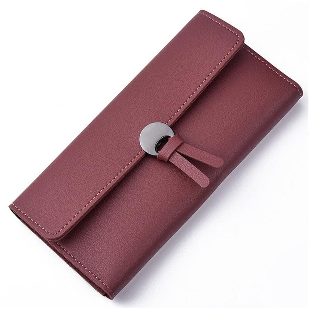 2017 New HENGSHENG Womens wallets and purses Fashion Leather Brand Wallet Leisure Clutch Bag Long Purse Carteira feminina