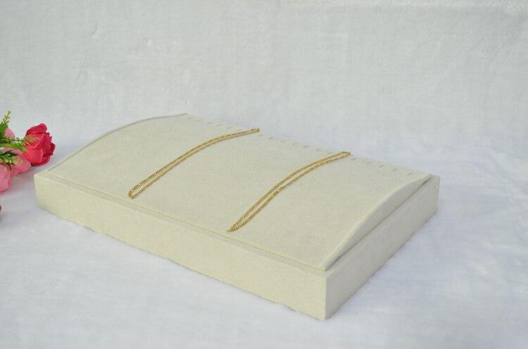 ⑦Exhibición de la joyería beige vellosidades necklacetray joyero ...