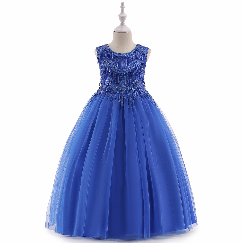 Flower     Girl     Dresses   For Wedding Party 2019 New Arrival Purple Teenage   Girl   Formal Gown White First Communion   Dresses