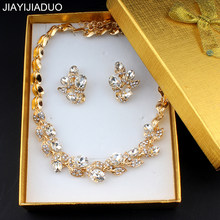 jiayijiaduo Elegant wedding jewelry set for women bridal jewelry necklace set earrings gift exquisite box dropshipping new 2018(China)
