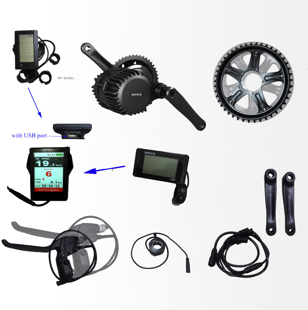 36V350W Bafang/8fun BBS01B mid crank drive motor kits C965 lcd display geared Motor kit eletric bicycle ebike - Shenzhen Xwheel Power Co,.Ltd store