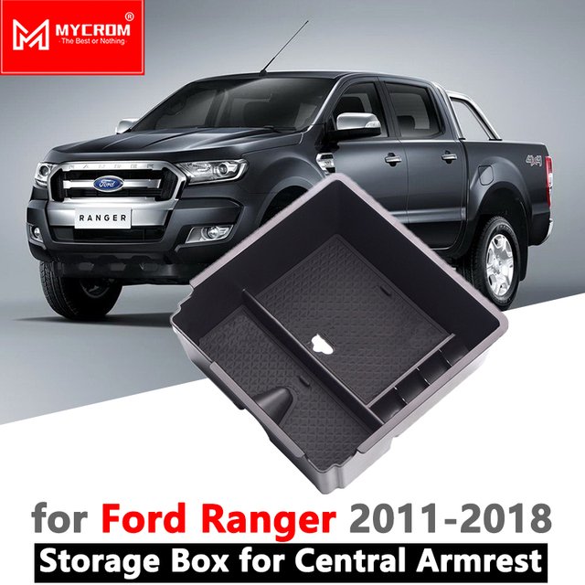 Armrest Box Storage Car Organizer Accessories for Ford Ranger 2011 2012 2013 2014 2015 2016 2017 2018 2019 Extended Wildtrak