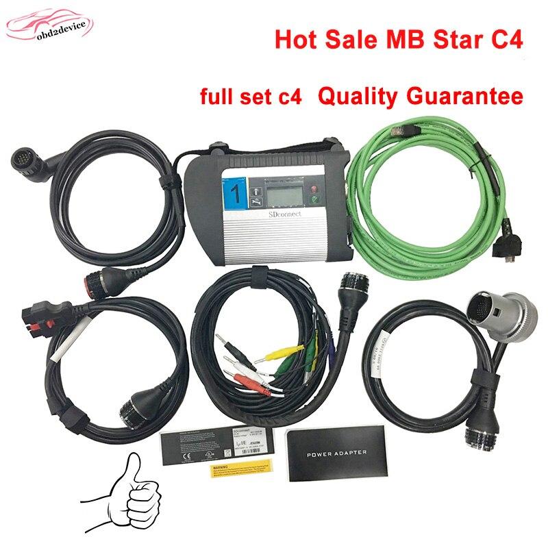 Высокая производительность Инструмент ЗВЕЗДЫ C4 полный набор Авто сканер мб звезда c4 Xentry + DAS SD Connect c4 для диагностика автомобилей DHL Бесплатн...