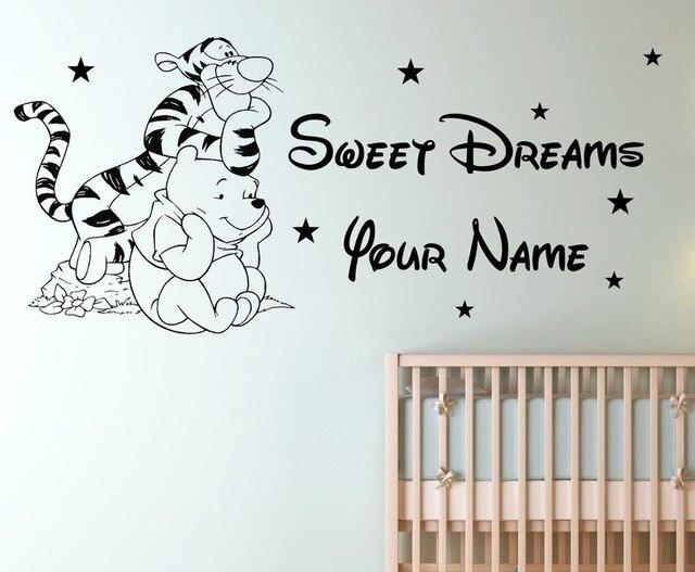 Muurstickers Slaapkamer Kind : Custom naam tigger winnie de pooh kinderen slaapkamer