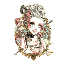 Baby Beauty Doll Tattoo Cool Beauty Sexy Tattoo Waterproof Temporary Tattoo Stickers