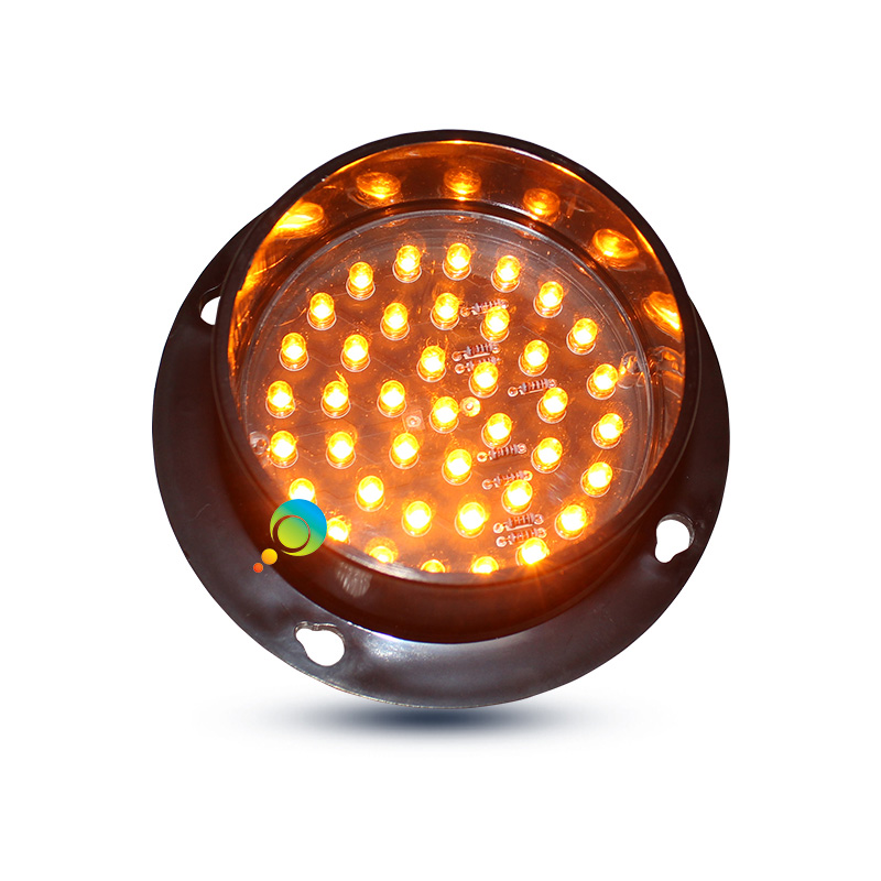 DC24V Mini 88mm LED Traffic Light Replacement Yellow Traffic Signal For Sale